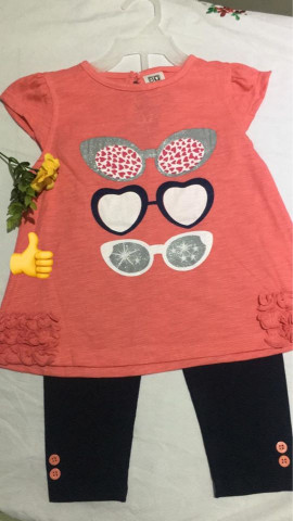 BABY GIRL T-SHIRT WITH TIGHTS