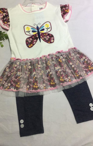 BABY GIRLS FROCK WITH TIGHTS